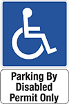 Parking by Disabled Permit Only